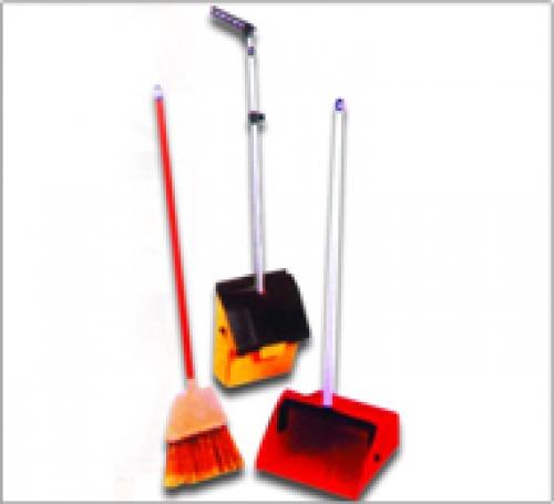 Clip Dust Pan With Floor Broom